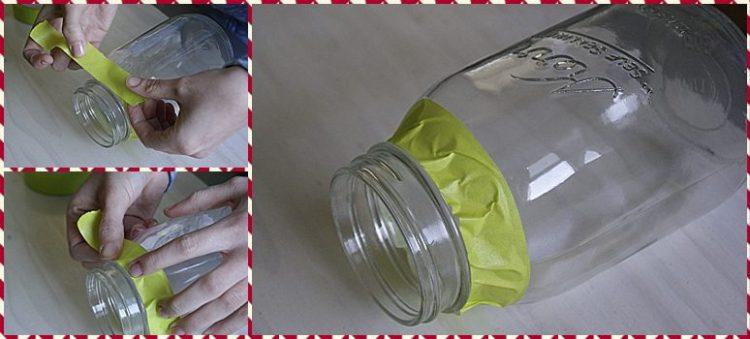 star & stripes mason jar