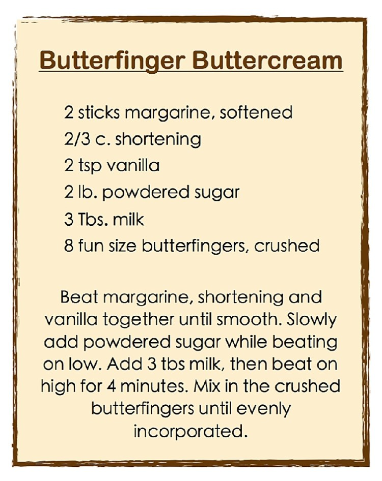 Butterfinger Buttercream
