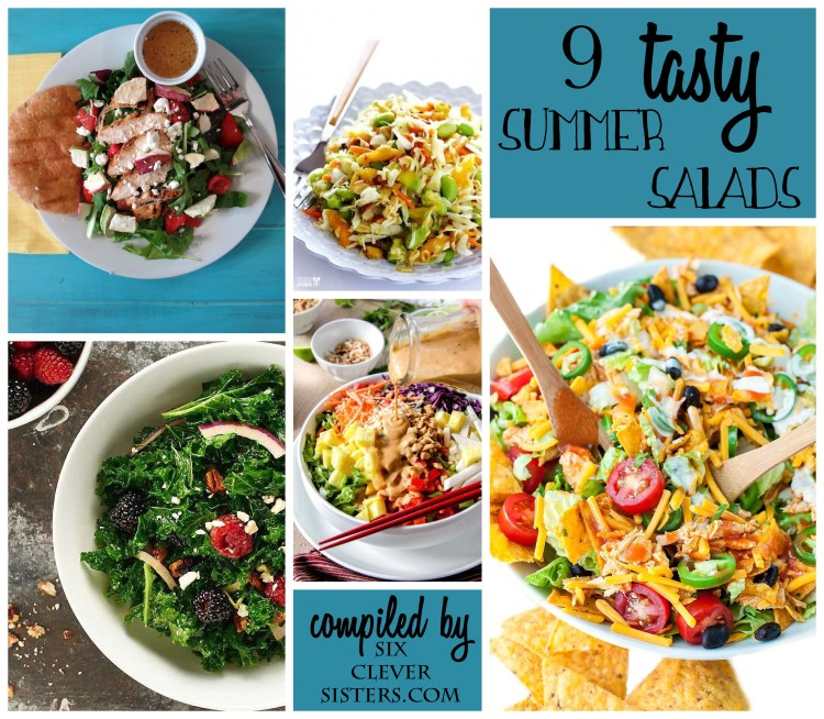 tasty summer salads recipes Six Clever Sisters healthy eating