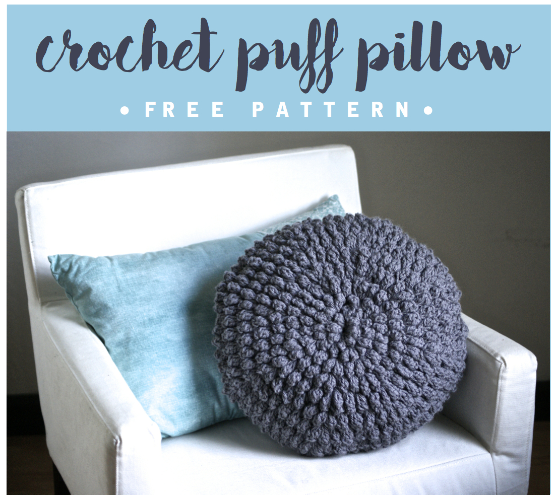 DIY Crochet Circle Puff Pillow Pattern - Six Clever Sisters