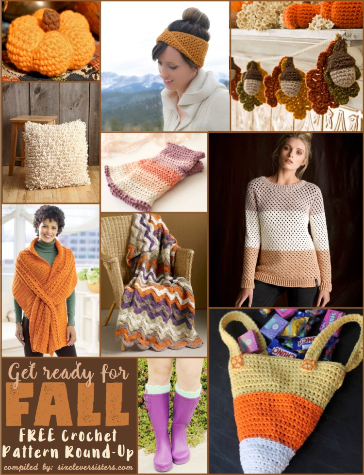 SixCleverSisters | Fall Crochet Patterns | Crochet Patterns | Crochet Projects | Get read for fall with these free crochet patterns! From mini pumpkins to cozy afghans to fluffy pillows, look no further for fall crochet inspo!