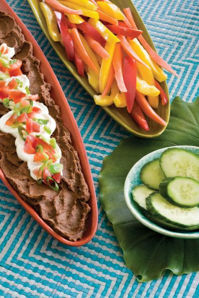 cuban black bean dip healthy fall thanksgiving appetizer