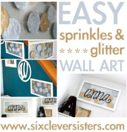 frame glitter gold dot home decor baby nursery decoration home diy sprinkle
