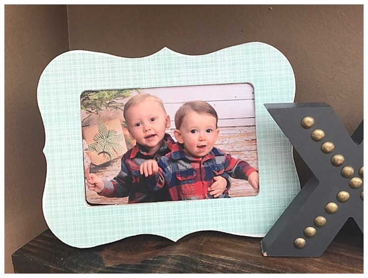 $2 DIY Custom Frame | Mod Podge DIY frame | simple home decor | Learn how to make this cute accent frame on Six Clever Sisters blog