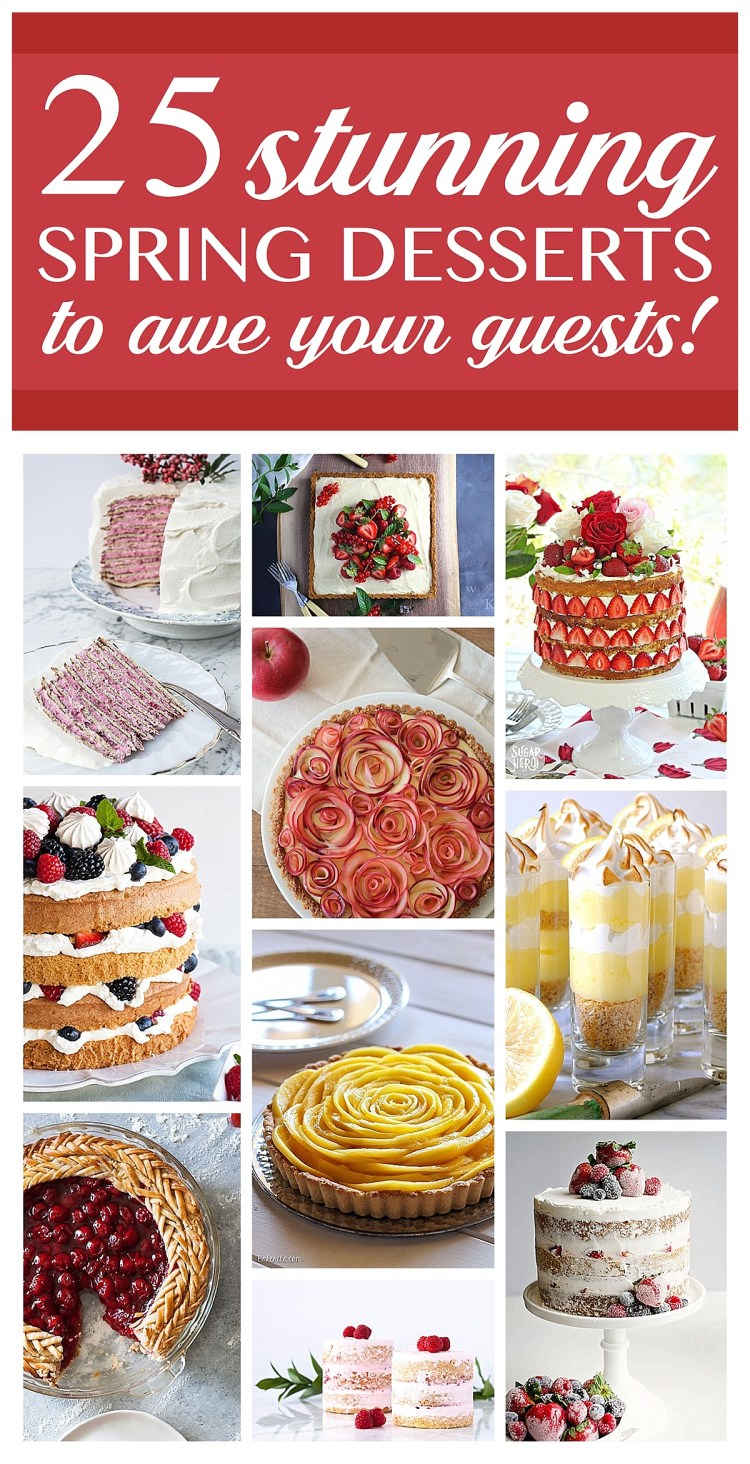Spring Desserts | Gorgeous Dessert | Beautiful Cake Recipe | Summer Dessert Recipes | Yummy Desserts | Fruit Desserts | Chocolate Desserts | Fancy Elegant Desserts | Impressive Dessert Recipe | Eye Catching | Six Clever Sisters | Mothers Day Ideas | Mothers Day Recipe | This collection of recipes from Six Clever Sisters has beautiful cakes, gorgeous tarts, and eye-catching pies meant to impress your guests!