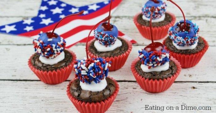 Patriotic Cupcakes   Memorial Day   Picnic Ideas   Red White Blue   Summer Desserts   Picnic Food   Cupcake Recipes   American Fun Food Ideas