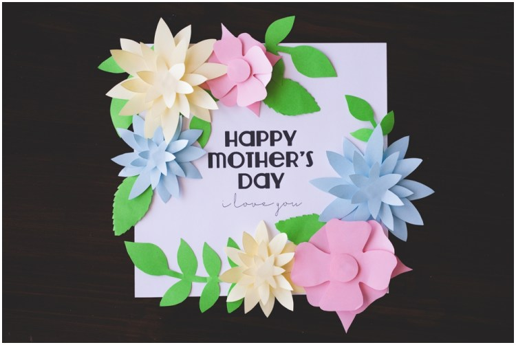 Mother's Day Kids Craft | Mother's Day Crafts for kids | Mother's Day Craft Ideas | Mother's Day Gifts from Kids | Mother's Day Gifts DIY | Printable Kids Craft | Free Printable | Directions and free printable templates for this Pretty Flower Mother's Day Crafts for Kids available on the Six Clever Sisters blog!