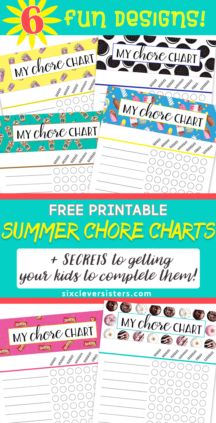 photograph regarding Summer Chore Chart Printable referred to as Summertime Chore Charts Totally free PRINTABLES  Secrets and techniques for