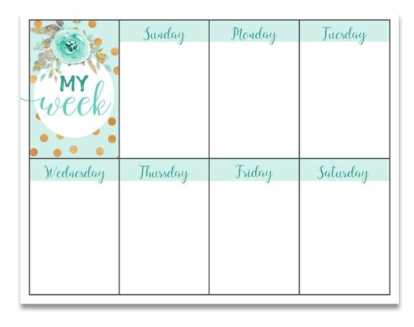 Free Weekly Planner Printable   Free Printable   Printable Weekly Planner   Planner Printable   Free Printable Planner   Download our free weekly planner printable on the Six Clever Sisters blog!