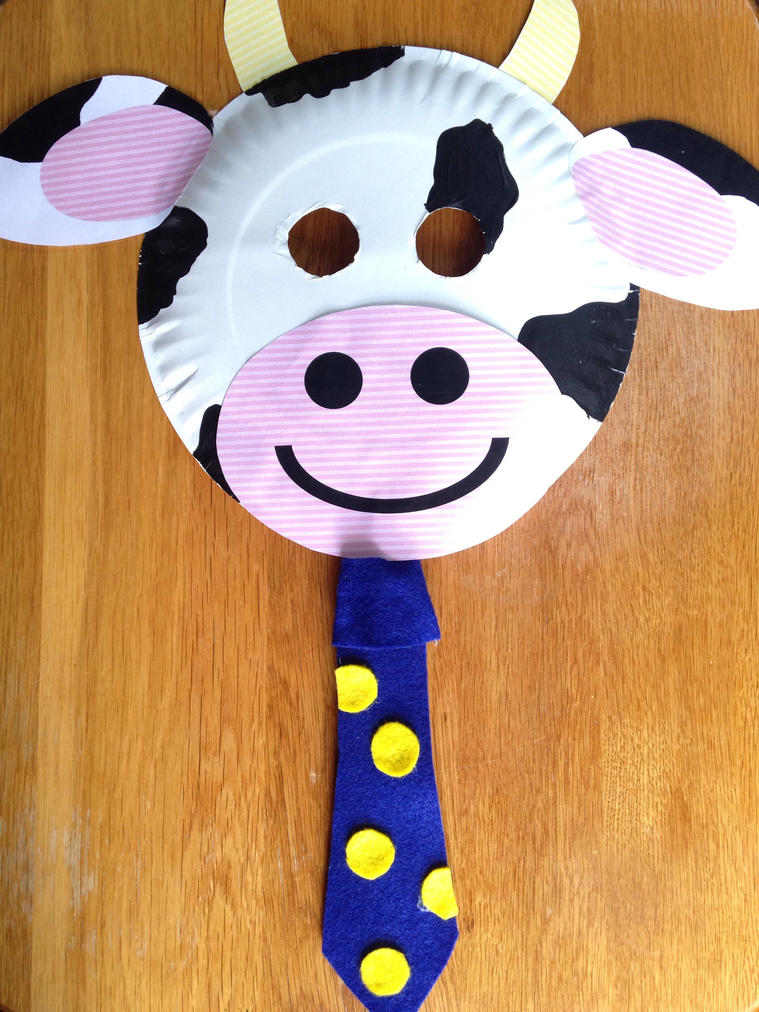 picture about Printable Cow Spots Chick Fil a titled Chick-fil-A Cow Working day Paper Plate Cow Masks With No cost
