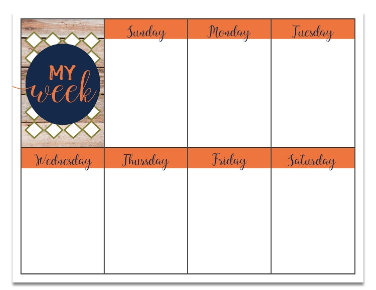 Free Weekly Planner Printable | Free Printable | Printable Weekly Planner | Planner Printable | Free Printable Planner | Download our free weekly planner printable on the Six Clever Sisters blog!