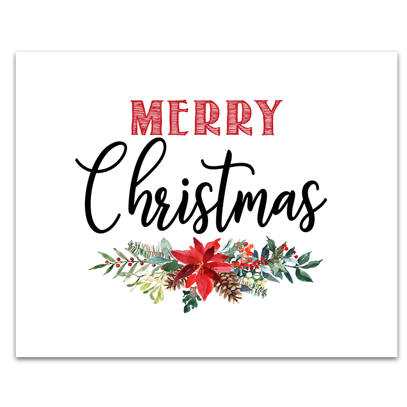 6 FREE Printable Christmas Signs - Six Clever Sisters