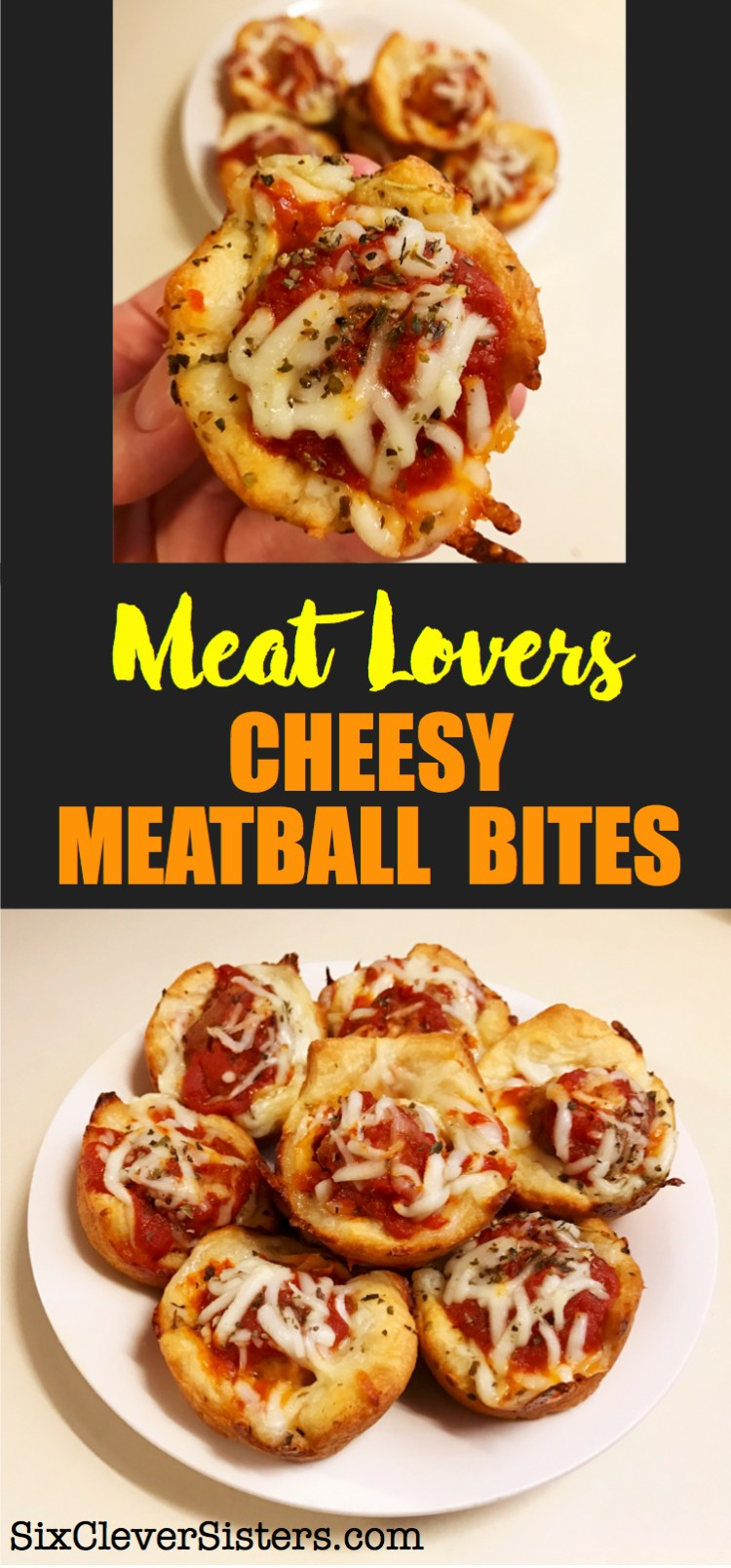 Meat Lovers Cheesy Meatball Bites | Pizza | Appetizer | Meatball | Recipe | Meatballs | Meatball Recipes | Meat Lovers | Fun Food | Party Food | Pizza Night | Pizza Recipe | Easy Dinner | Kid Friendy