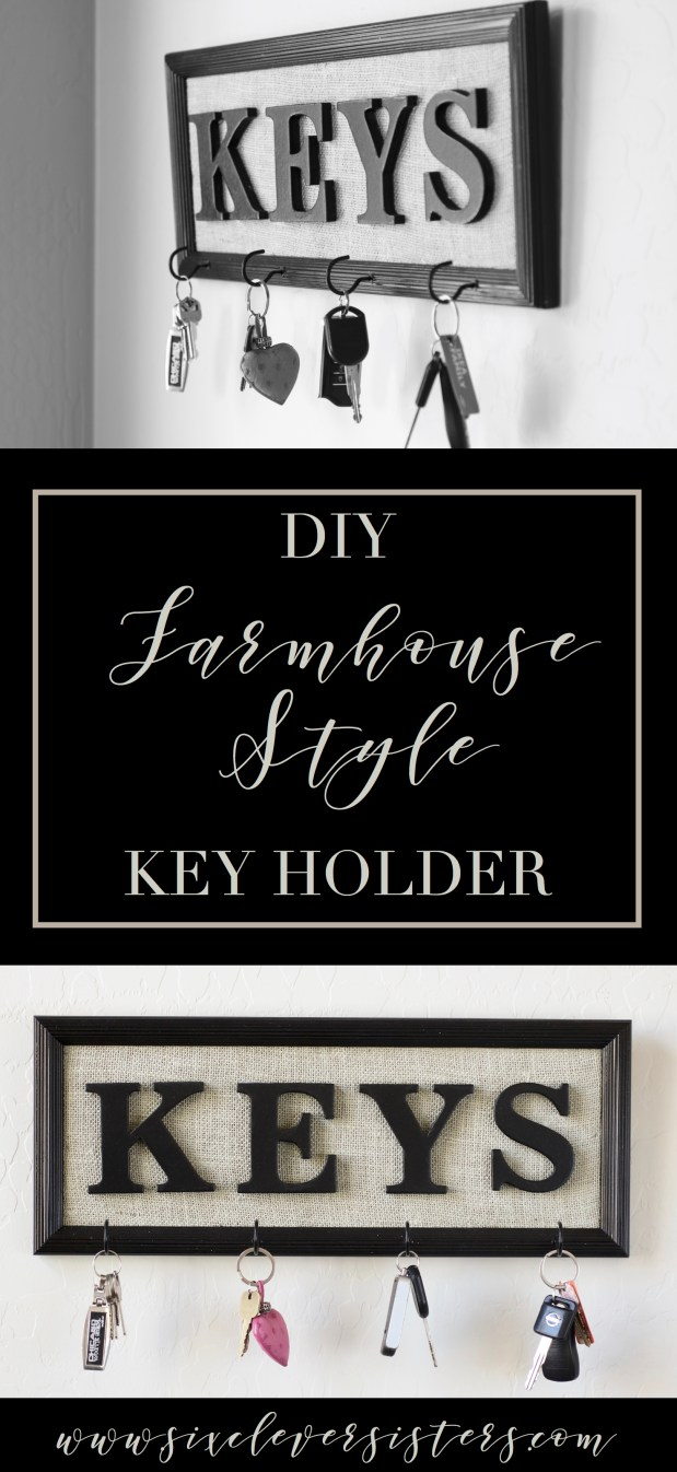 DIY Farmhouse Decor | DIY Farmhouse Sign | DIY Farmhouse | Diy Farmhouse Sign Frame | Farmhouse Decor | Farmhouse Decor On a Budget | Farmhouse Decor DIY | Farmhouse Decor on a Budget Ideas | Key Holder | Key Holder DIY | Key Holder DIY Rustic | DIY Decor | Cheap Farmhouse Decor DIY | Farmhouse Decor Ideas | Farmhouse Decor Cheap | DIY Farmhouse Decor Ideas | DIY Farmhouse Decor Projects | This easy and cheap diy farmhouse decor can be made in no time and compares to the expensive farmhouse decor in store!