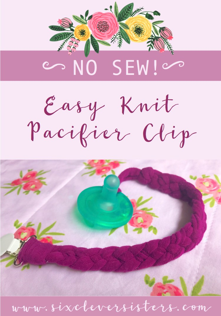 Easy Knit Pacifier Clip | No Sew Pacifier clip | DIY Pacifier Clip | Easy DIY Pacifier Clip | Pacifier Clip | Baby | Baby Gear | Nursery | Diaper Bag | Essentials Baby | Knit DIY | Make this adorable and soft clip for baby's Pacifier!
