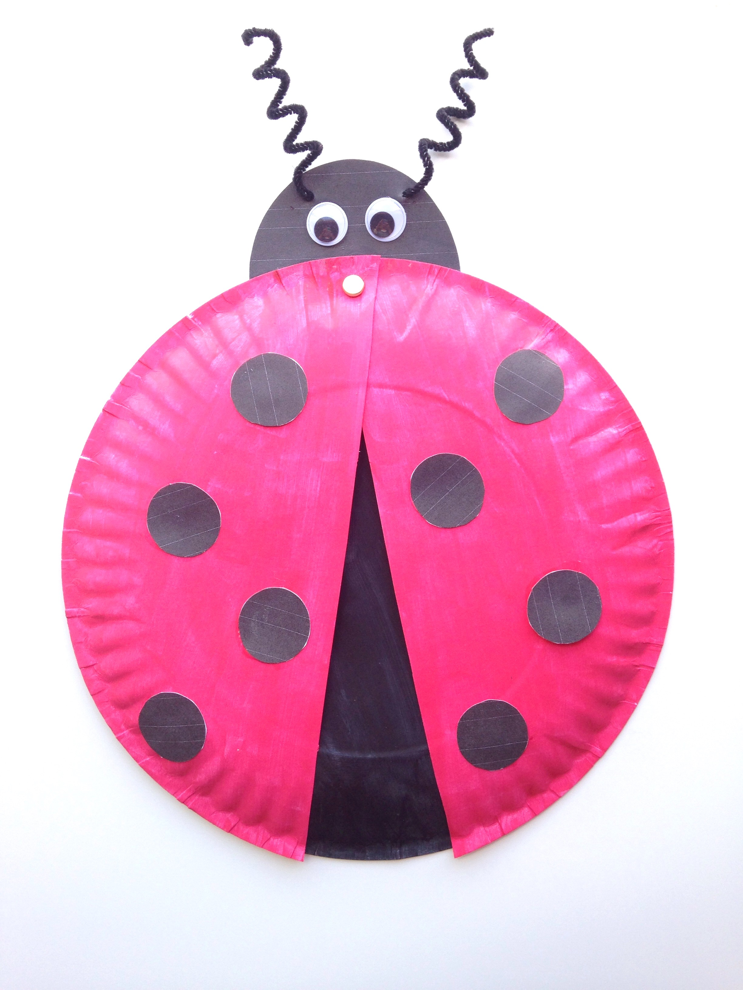 Ladybug Paper Plate Craft For Kids Free Printable Template