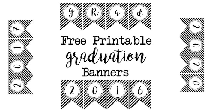 image relating to Printable Graduation Decorations named Commencement Occasion Recommendations upon a Spending budget - 6 Intelligent Sisters
