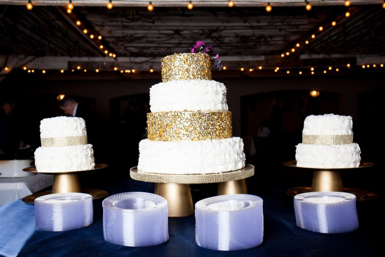 Wedding Cake Stand DIY | DIY Wedding Decor | Navy Purple Wedding | Gold Wedding Decor | Easy DIY Wedding | Wedding on a Budget | Easy Cake Stand | Cake Stand Ideas | Cake Stand DIY | Wedding Ideas | Wedding DIY