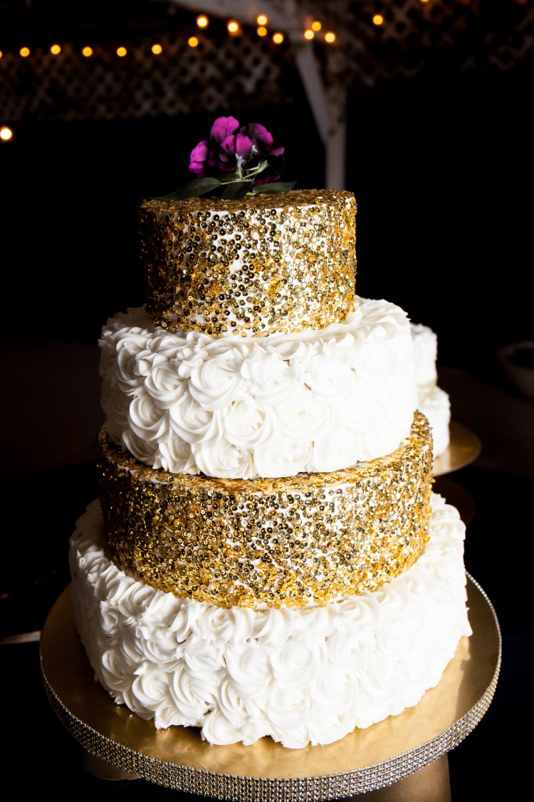 diy metallic glitz and glam wedding cake stand six clever sisters
