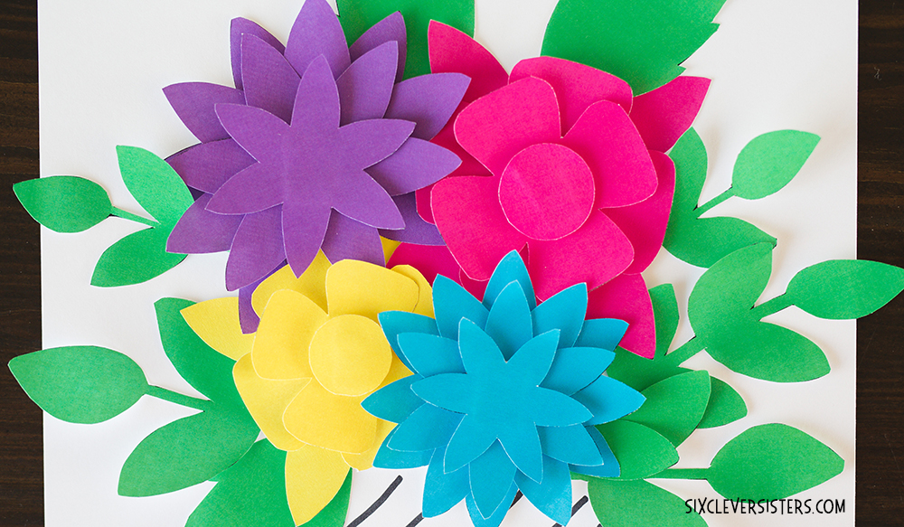 picture regarding Flower Template Printable identified as Wonderful Paper Bouquets Free of charge PRINTABLES - 6 Smart Sisters