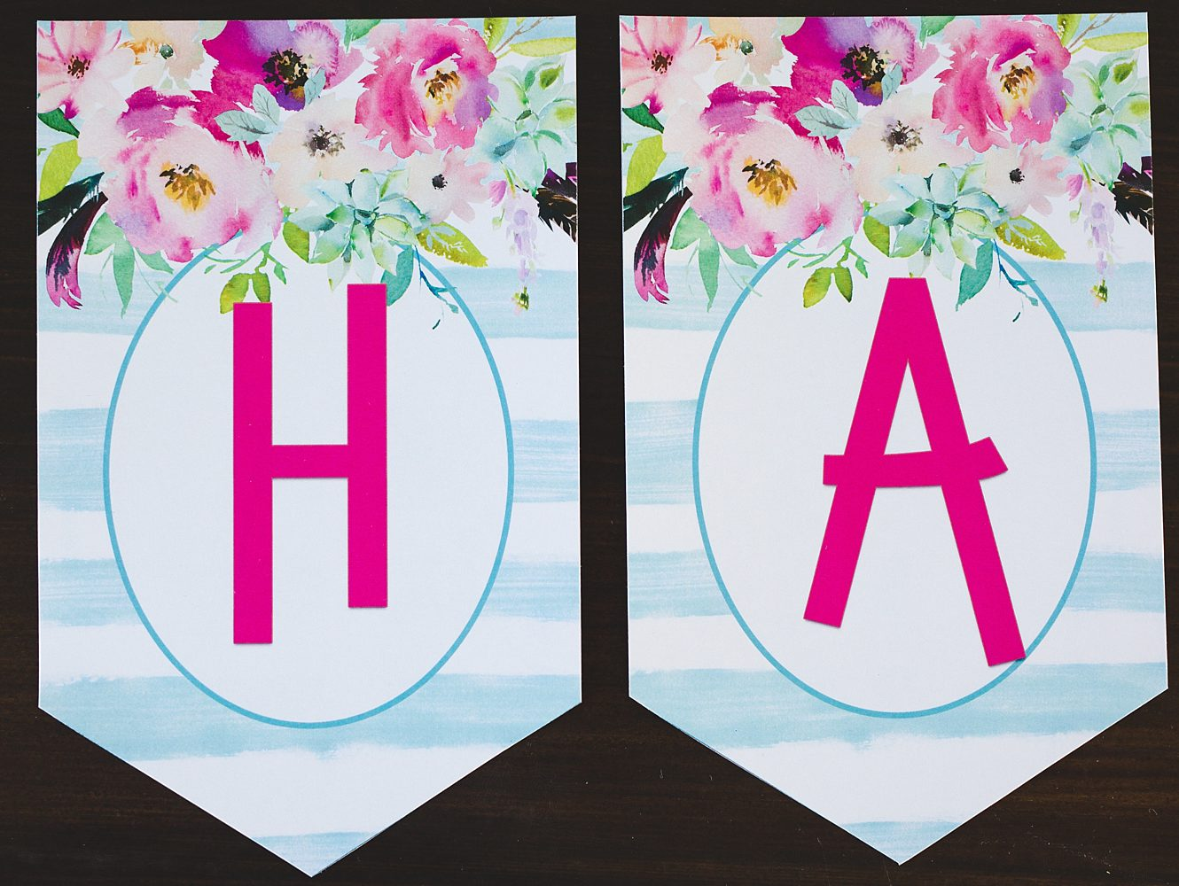 photo about Printable Happy Birthday Banner titled Totally free Printable Birthday Banner - 6 Intelligent Sisters