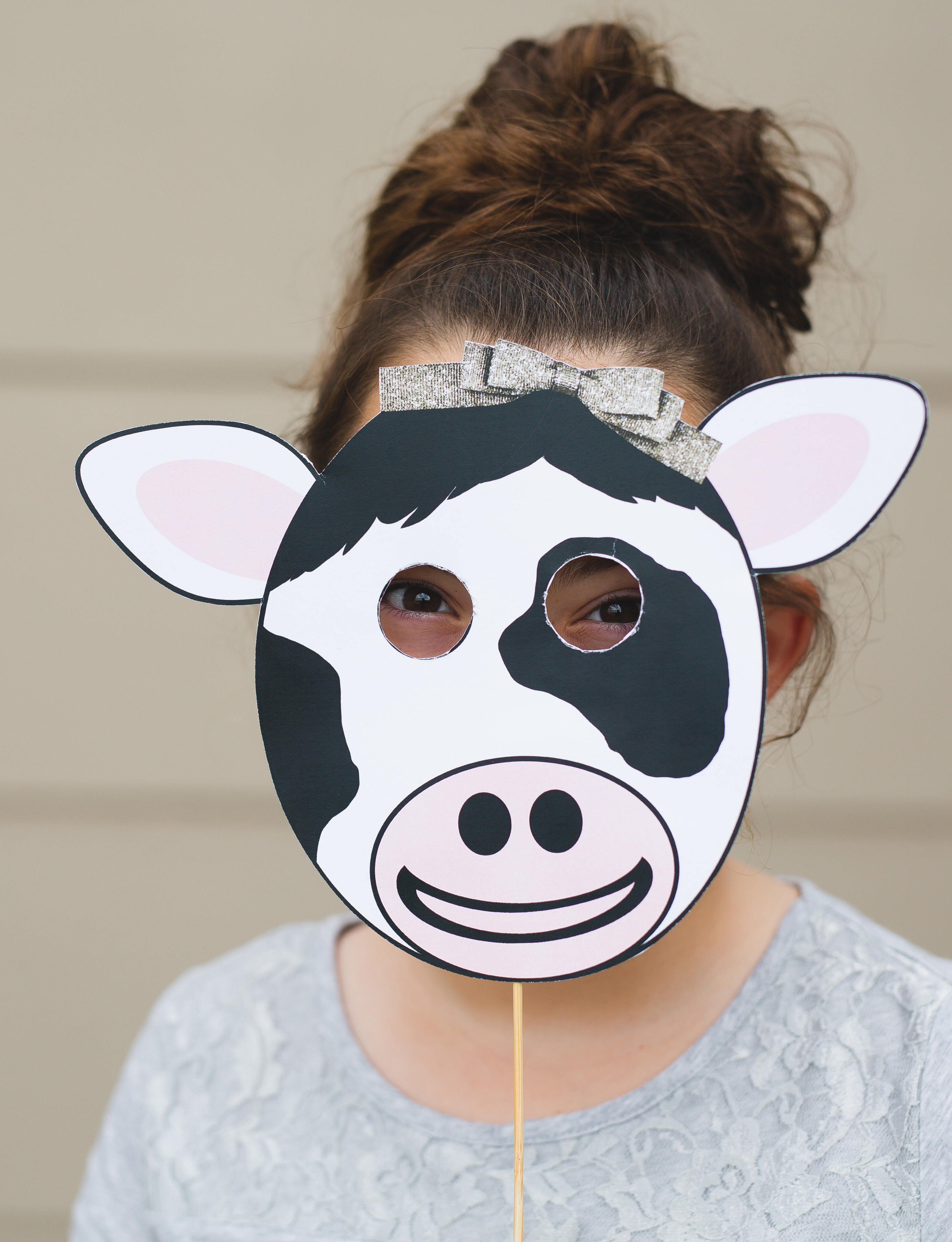 photograph regarding Cow Mask Printable referred to as Chick Fil A Cow Mask - 6 Good Sisters