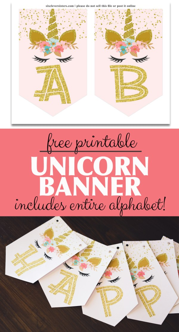 Unicorn Birthday Banner | Unicorn Banner | Unicorn Banner DIY | Unicorn Birthday Banner DIY | Unicorn Banner Printable | Unicorn Banner Free | Unicorn Banner Printable | Unicorn Banner Free Printable | Unicorn Party Banner Printable | Unicorn Birthday Banner Free Printable #unicorn #unicornparty #unicornbirthday