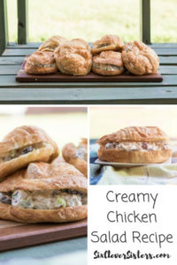 Creamy Chicken Salad Recipe | Chicken Recipe | Chicken Salad | Easy Chicken Salad | Chicken Sandwich | Chicken Salad Sandwich | Enjoy a creamy chicken salad sandwich with this easy recipe from SixCleverSisters.com!