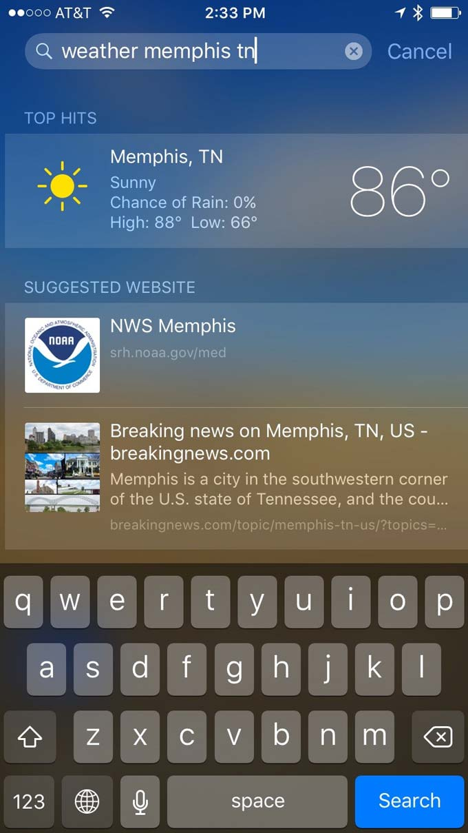 weather-memphis