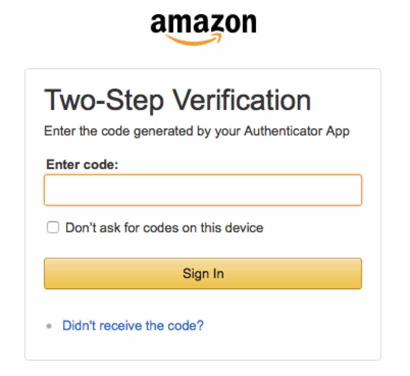 Amazon two-step