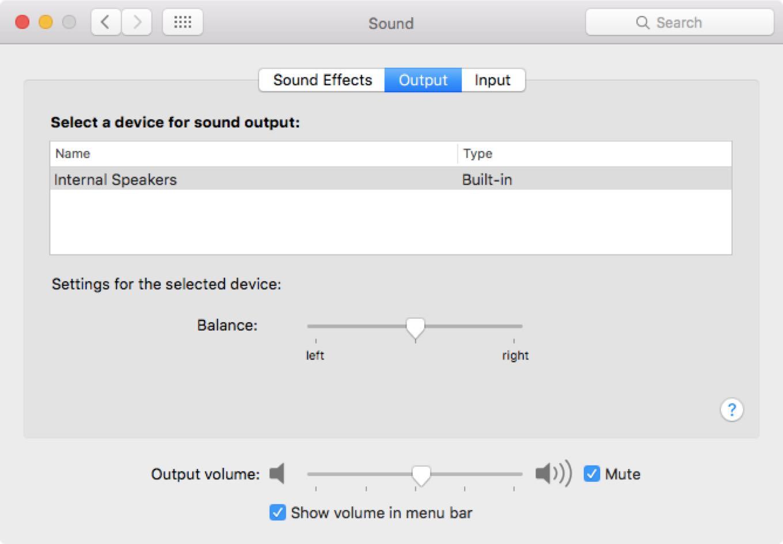 Sound Preference Pane