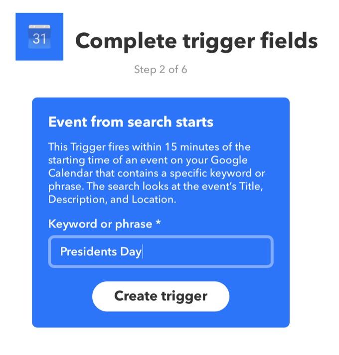 iftt-trigger
