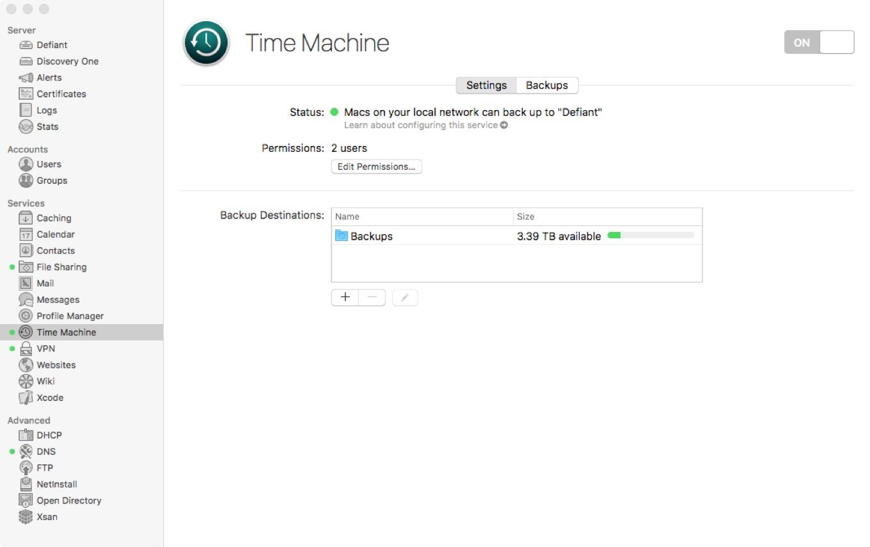 Time Machine Server
