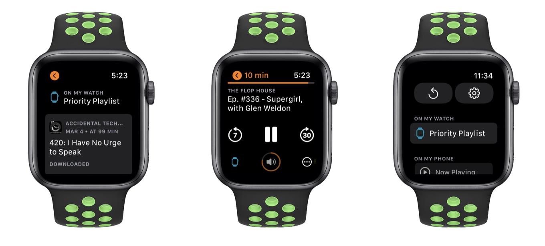 Overcast on Apple Watch