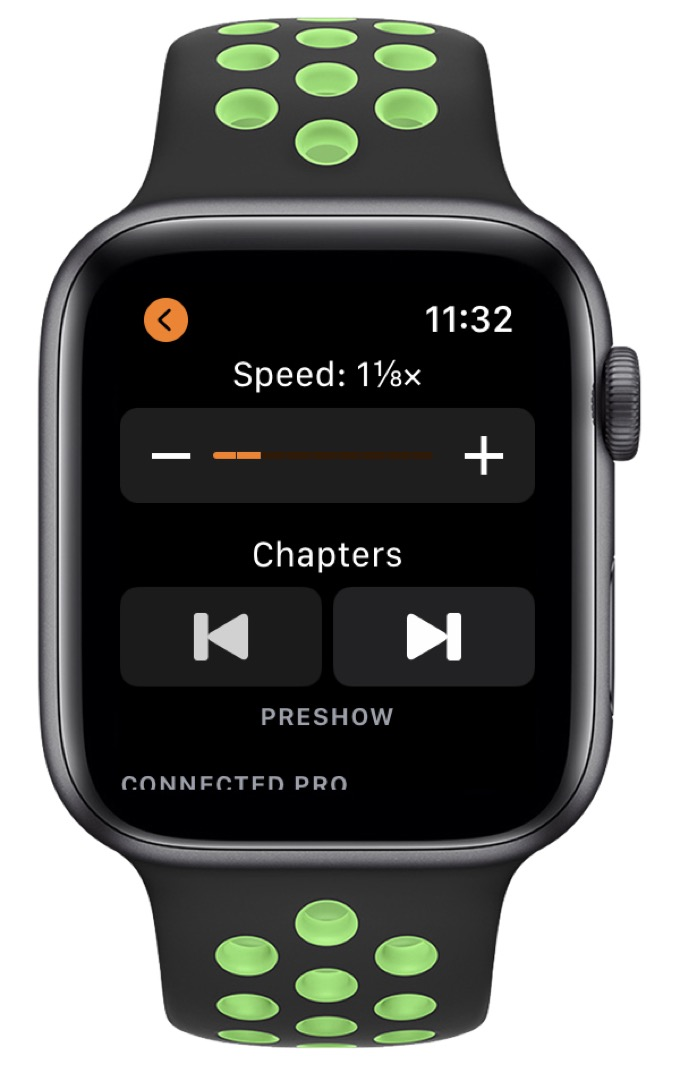 apple watch and overcast
