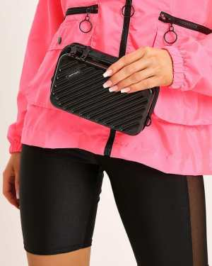 Black Structured Metal Mini Utility Clutch - OS / BLACK