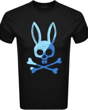Psycho Bunny Andover Logo T Shirt Black