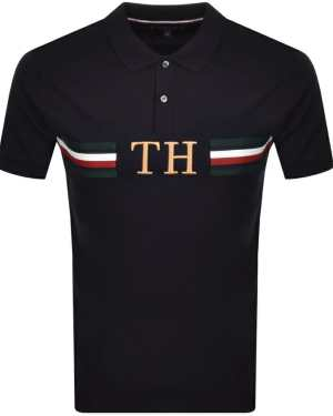 Tommy Hilfiger Monogram Logo Polo T Shirt Navy