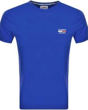 Tommy Jeans Logo T Shirt Blue