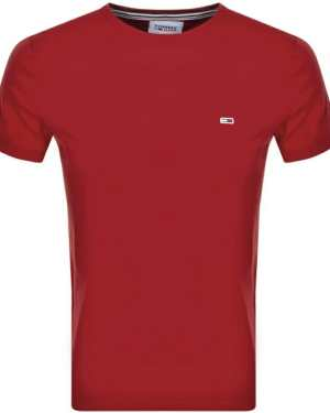 Tommy Jeans Logo T Shirt Red
