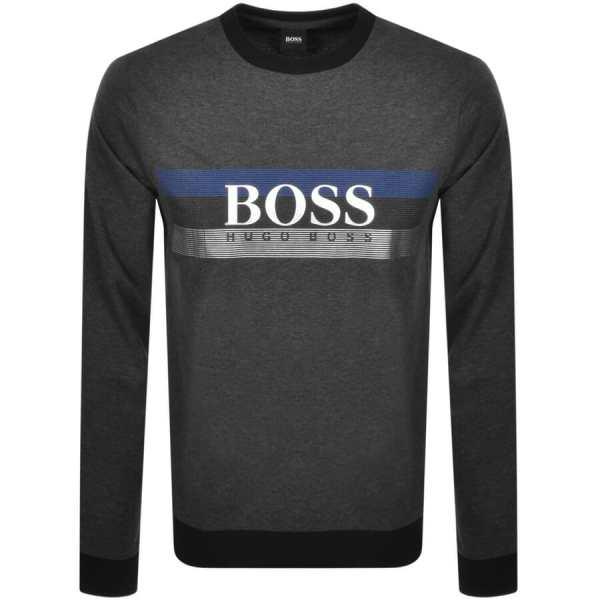 BOSS Bodywear Lounge Crew Neck Sweatshirt Grey