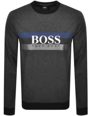 BOSS Bodywear Lounge Crew Neck Sweatshirt Grey