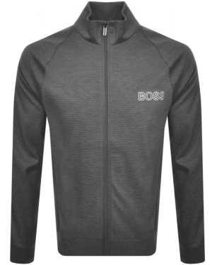 BOSS Bodywear Full Zip Sweatshirt Grey
