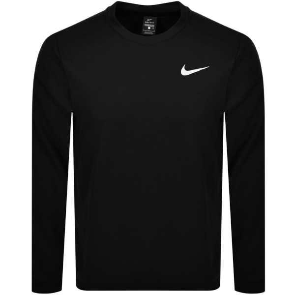 Nike Training Crew Neck Logo Sweatshirt Black