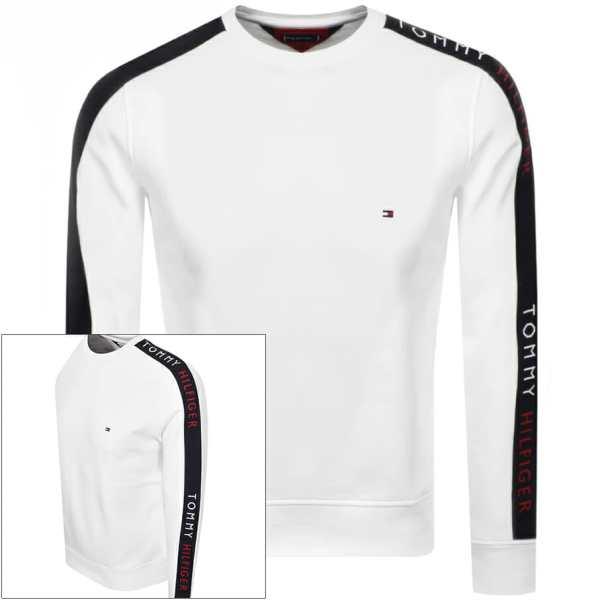 Tommy Hilfiger Taped Crew Neck Sweatshirt White
