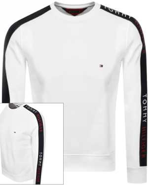 Tommy Hilfiger Taped Crew Neck Sweatshirt White