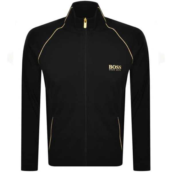 BOSS Bodywear Full Zip Logo Sweatshirt Black