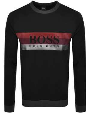 BOSS Bodywear Lounge Crew Neck Sweatshirt Black