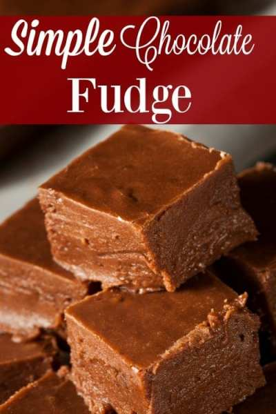No Christmas dessert plate is complete without a Simple Chocolate Fudge recipe! You'll love how easy this is to make! It tastes like you spent hours!