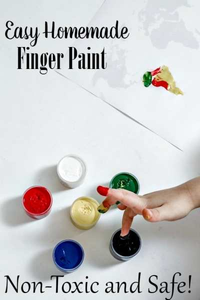 Bored Kids? You'll love this DIY Finger paint! Super easy to make, budget friendly and non-toxic! It's the perfect kids craft for a rainy day!
